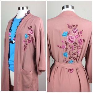 Xhilaration embroidered kimono robe
